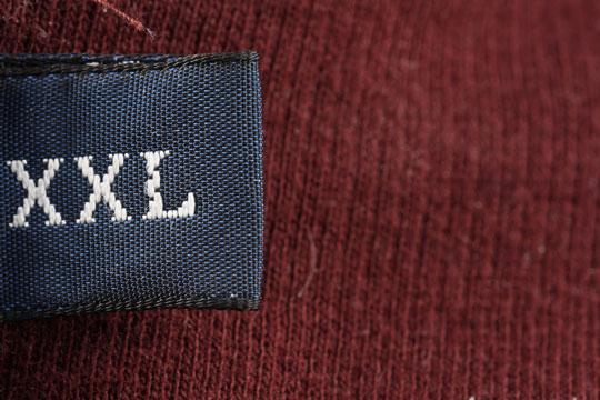 size xxl label